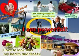 Vision board for exercise and fitness