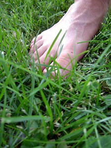 Foot on Lawn
